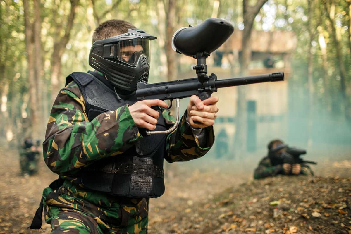 Paintball for kids at easter