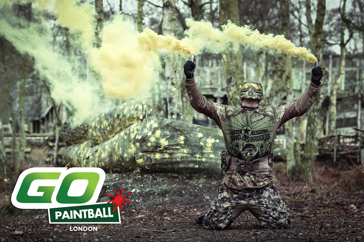 Paintball smoke grenades
