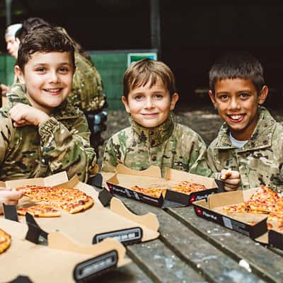 Paintball with free pizza
