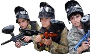 Junior and mini paintball